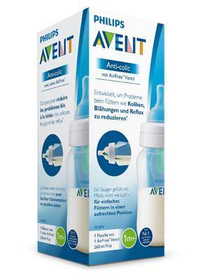 Láhev AVENT Anti-colic 260 ml s ventilem AirFree (1 ks) 2020 - 2