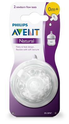 Dudlík AVENT Natural 1 - novorozenecký průtok (2 ks) 2020 - 2