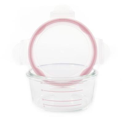 Skleněné misky s víčky BO JUNGLE B-Glass Bowls 280ml 2021, white/grey/pink - 2