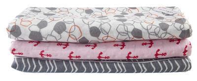 Osuška deka plenkovina LITTLE ANGEL Natur 135x135 cm 2020, růžová/červená kotva - 2