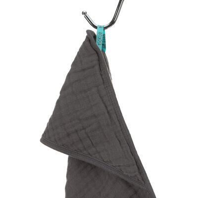 Ručník s kapucí LÄSSIG Muslin Hooded Towel 2021, anthracite - 2