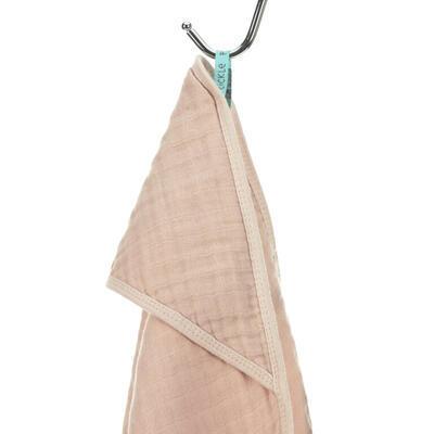 Ručník s kapucí LÄSSIG Muslin Hooded Towel 2021, light pink - 2