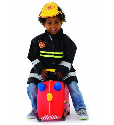 Kufřík + odrážedlo  TRUNKI 2020, hasičský vůz Frankie - 2