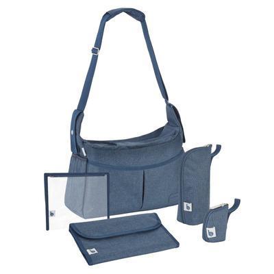 Přebalovací taška BABYMOOV Urban Bag 2021, melanged blue - 2