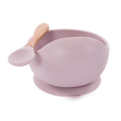 Miska s přísavkou a lžičkou BO JUNGLE 2021, pastel pink - 2