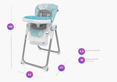Jídelní židlička BABY DESIGN Lolly 2017 - 2