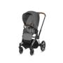 Kočárek CYBEX Set Priam Chrome Black Seat Pack PLUS 2021  včetně Aton 5, manhattan grey - 3/7