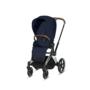 Kočárek CYBEX Set Priam Chrome Brown Seat Pack PLUS 2021  včetně Aton 5, midnight blue - 3/7