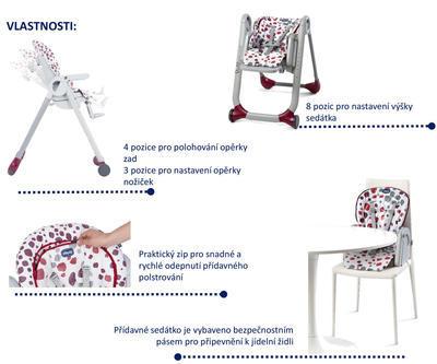 Jídelní židle CHICCO Polly Progress 5v1 2017 - 3