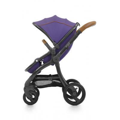 Kočárek BABYSTYLE Egg® včetně korby a tašky 2017 + DÁRKY, gothic purple/gun metal rám - 3