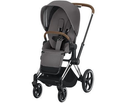Kočárek CYBEX Set Priam Chrome Brown Seat Pack 2019 včetně Cloud Z i-Size, manhattan grey - 3