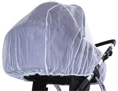 Síť proti hmyzu EMITEX na kočárek DUO 2020, bílá - 3