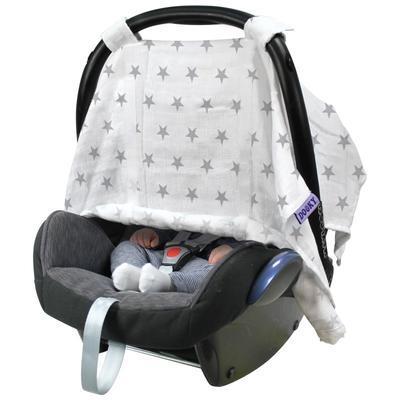 Clona DOOKY Car Seat Canopy 2017, silver stars - 3