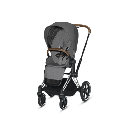 Kočárek CYBEX Set Priam Chrome Brown Seat Pack PLUS 2021  včetně Aton 5 - 3