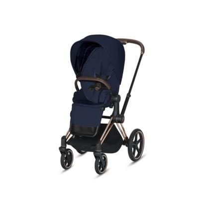 Kočárek CYBEX Set Priam Rosegold Seat Pack PLUS 2021  včetně Cloud Z i-Size PLUS, midnight blue - 3