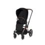 Kočárek CYBEX Set Priam Rosegold Seat Pack PLUS 2021  včetně Cloud Z i-Size PLUS, stardust black - 3/7
