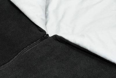 Fusak EMITEX Fanda 2v1 fleece s bavlnou 2020, světle šedý - peříčka růžová - 3