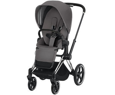 Kočárek CYBEX Set Priam Chrome Black Seat Pack 2019 včetně Cloud Z i-Size, manhattan grey - 3
