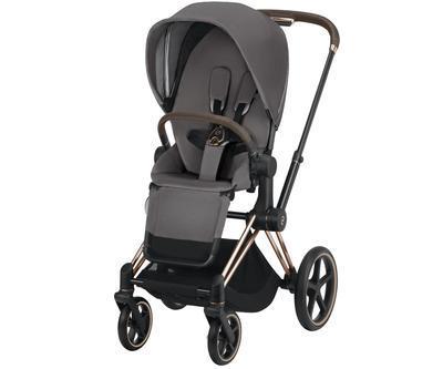 Kočárek CYBEX Set Priam Rosegold Seat Pack 2019 včetně Cloud Z i-Size, manhattan grey - 3