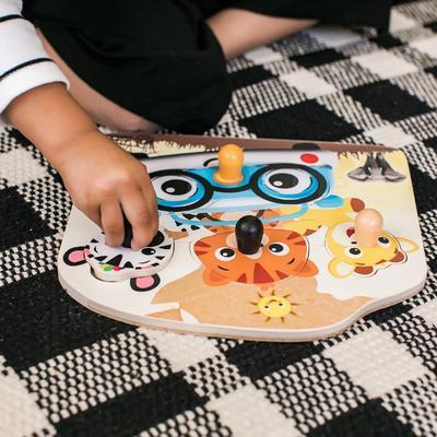 Dřevěná hračka BABY EINSTEIN Puzzle Friendy Safari Faces HAPE 12m+ 2020 - 3