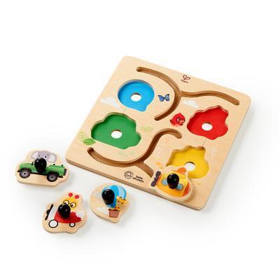 Dřevěná hračka BABY EINSTEIN Puzzle Paths to Adventure HAPE 12m+ 2020 - 3