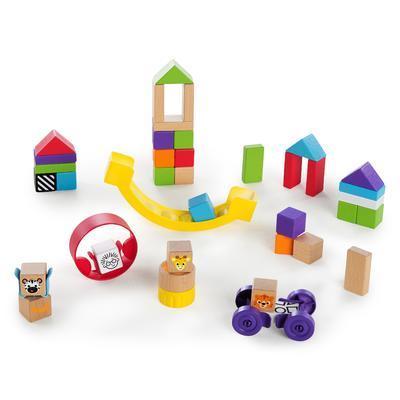 Dřevěná hračka BABY EINATEIN Stavebnice Curious Creations Kit HAPE 12m+ 2020 - 3