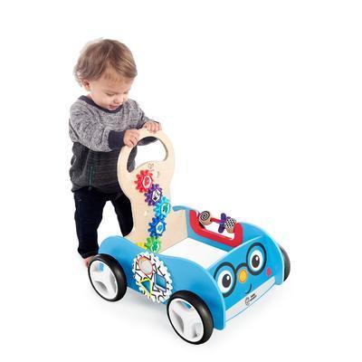 Dřevěná aktivní hračka BABY EINSTEIN Vlečka Discovery Buggy HAPE 12m+ 2020 - 3