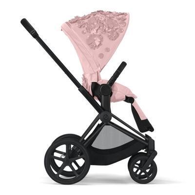 Kočárek CYBEX Set Priam Lux Seat FashionSimply Flowers Collection 2021 včetně autosedačky, light pink/podvozek priam chrome brown - 3