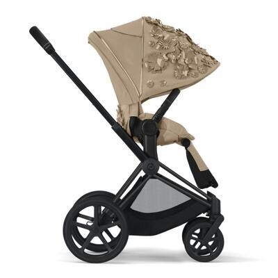Kočárek CYBEX Set Priam Lux Seat FashionSimply Flowers Collection 2021 včetně autosedačky, mid beige/podvozek priam rosegold - 3