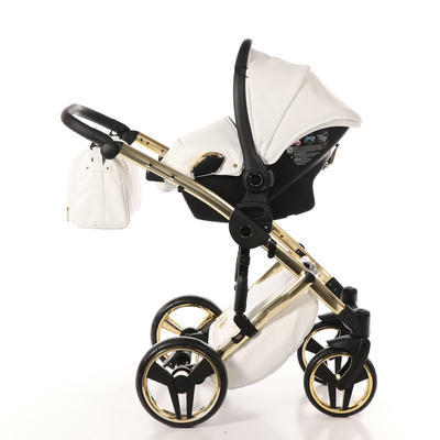 Autosedačka JUNAMA BabySchild Topline Weiss 2019, 01 gold - 3