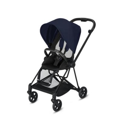 Kočárek CYBEX Mios Matt Black Seat Pack PLUS 2021 včetně korby, midnight blue - 3