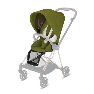 Kočárek CYBEX Mios Matt Black Seat Pack 2021 včetně korby, khaki green - 3