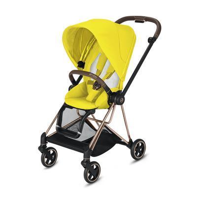 Kočárek CYBEX Mios Rosegold Seat Pack 2021 včetně korby, mustard yellow - 3