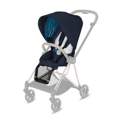 Kočárek CYBEX Mios Matt Black Seat Pack 2021 včetně korby, nautical blue - 3
