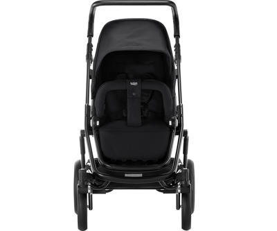 Kočárek BRITAX GO Big2 Premium Line 2019 včetně hluboké korby + autosedačka Baby-Safe i-Size ZDARMA, cosmos black - 4