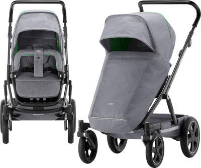 Kočárek BRITAX GO Big2 Premium Line 2018 včetně hluboké korby + autosedačka Baby-Safe i-Size ZDARMA, dynamic grey - 4