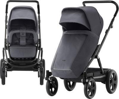 Kočárek BRITAX GO Big2 Premium Line 2019 včetně hluboké korby + autosedačka Baby-Safe i-Size ZDARMA, graphite melange/black - 4