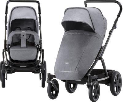 Kočárek BRITAX GO Big2 Premium Line 2019 včetně hluboké korby + autosedačka Baby-Safe i-Size ZDARMA, grey melange/black - 4