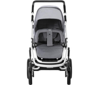 Kočárek BRITAX GO Big2 Premium Line 2019 včetně hluboké korby + autosedačka Baby-Safe i-Size ZDARMA, grey melange/white - 4