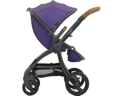 Kočárek BABYSTYLE Egg® 2018 včetně korby a autosedačky, gothic purple/gun metal rám - 4