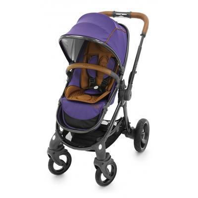 Kočárek BABYSTYLE Egg® včetně korby a tašky 2017 + DÁRKY, gothic purple/gun metal rám - 4