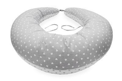Multifunkční kojící polštář SCAMP 2020, little heart white-grey - 4