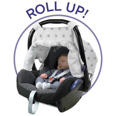 Clona DOOKY Car Seat Canopy 2017, silver stars - 4