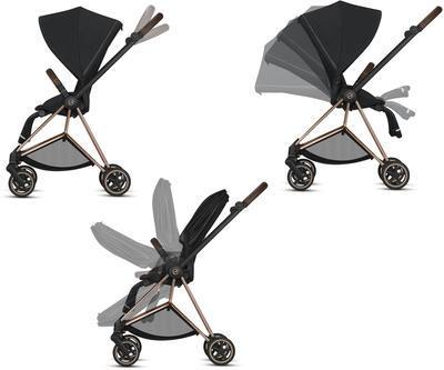 Kočárek CYBEX Mios Matt Black Seat Pack 2021 včetně korby, khaki green - 4