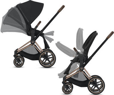 Kočárek CYBEX Set Priam Chrome Brown Seat Pack 2021 včetně Aton 5 a báze, soho grey - 4