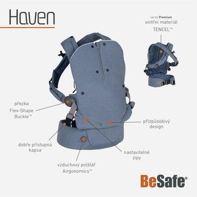 Nosítko BESAFE iZi Haven 3D Mesh 2021 - 4