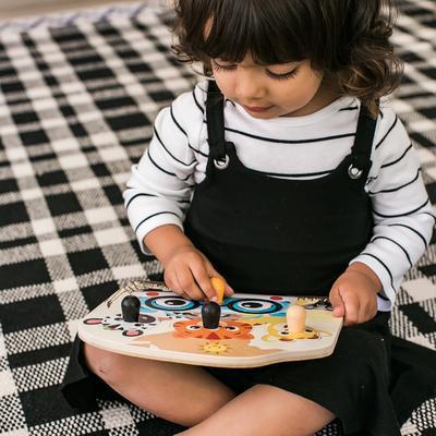 Dřevěná hračka BABY EINSTEIN Puzzle Friendy Safari Faces HAPE 12m+ 2020 - 4