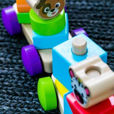 Dřevěná hračka BABY EINSTEIN Discovery Train HAPE 18m+ 2020 - 4