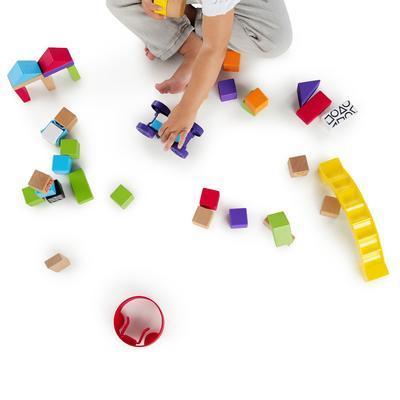 Dřevěná hračka BABY EINATEIN Stavebnice Curious Creations Kit HAPE 12m+ 2020 - 4