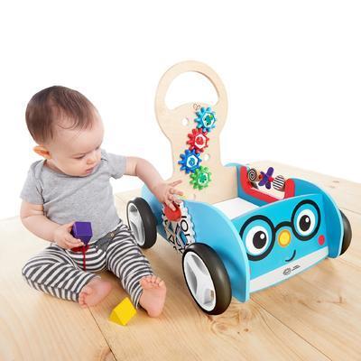 Dřevěná aktivní hračka BABY EINSTEIN Vlečka Discovery Buggy HAPE 12m+ 2020 - 4